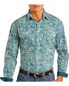 Panhandle Men's Paisley Printed Long Sleeve Shirt, Green, hi-res