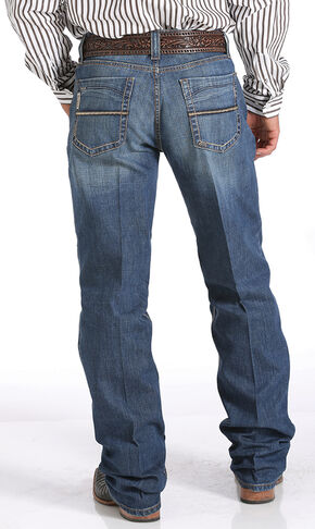 Cinch Grant Relaxed Fit Performance Jeans - Boot Cut , Denim, hi-res