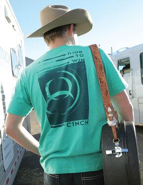 Cinch Men's Green Double Side Logo T-Shirt, Green, hi-res