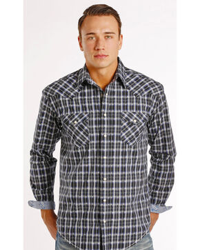 Rough Stock by Panhandle Slim Seven Locks Plaid Dobby Western Shirt , Plaid, hi-res