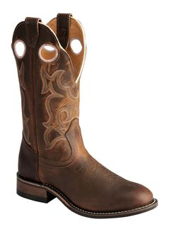 Boulet Tan Spice Rider Cowgirl Boots - Round Toe, , hi-res