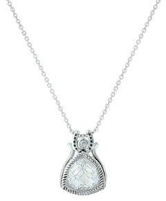Montana Silversmiths Women's Hidden Treasure Horseshoe Necklace , , hi-res