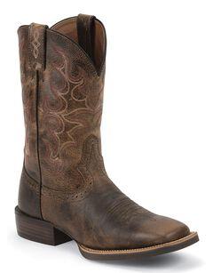 Justin Silver Cattleman Cowboy Boots - Square Toe, , hi-res