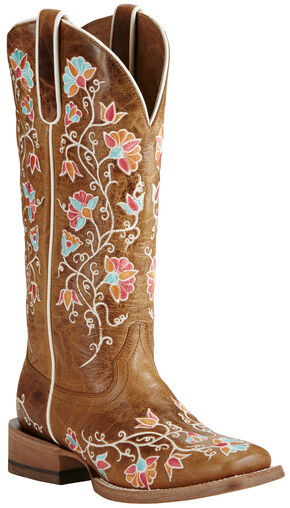 Ariat Women's Brown Carmelita Boots - Wide Square Toe, Brown, hi-res