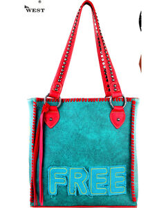 Montana West Turquoise  Concealed Handgun Tote, , hi-res