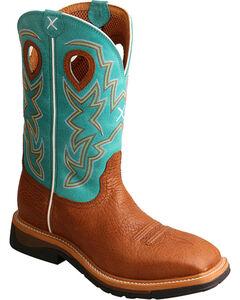 Twisted X Men's Cognac Lightweight Work Boots - Steel Toe , Cognac, hi-res