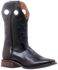 Boulet Black Stockman Cowboy Boots - Square Toe , , hi-res