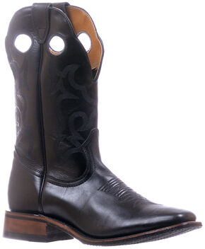 Boulet Black Stockman Cowboy Boots - Square Toe , Black, hi-res