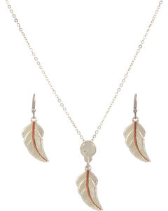 Montana Silversmiths No Dream Is Too Small Feather Jewelry Set, , hi-res