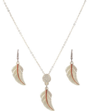 Montana Silversmiths No Dream Is Too Small Feather Jewelry Set, Silver, hi-res
