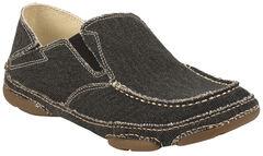 Tony Lama Men's Coal Black 3R Casuals Canvas Shoes - Moc Toe , , hi-res