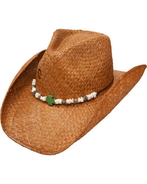 Charlie 1 Horse Women's Cross Your Heart Straw Cowgirl Hat, Chocolate, hi-res