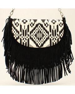 Blazin Roxx Women's Aztec Fringe Shoulder Bag, , hi-res