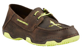 Ariat Women's Brown Caldwell Cross Boat Shoes , Brown, hi-res