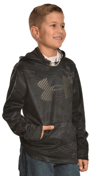 Under Armour Boys' Skull Mask Hooded Jacket, Black, hi-res