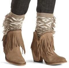Shyanne Women's Aztec Fringe Boot Cuffs, , hi-res