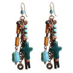 Treska Women's Santa Fe Cord Bead & Chain Earrings , , hi-res