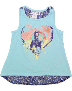 Shyanne Toddler Girls' Ella Pony Tank , Blue, hi-res