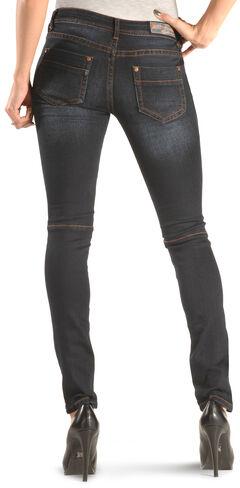 Grace in LA Women's Dark Moto Skinny Jeans , , hi-res