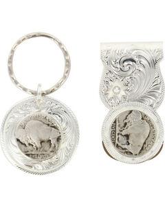 Montana Silversmiths Buffalo Nickel Money Clip & Key Ring, , hi-res