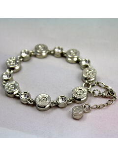 SouthLife Supply Women's Clara Bullet Link Bracelet in Traditional Silver with Crystal, , hi-res