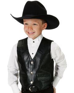 Roper Kids' Lambskin Leather Vest - 7-14, , hi-res