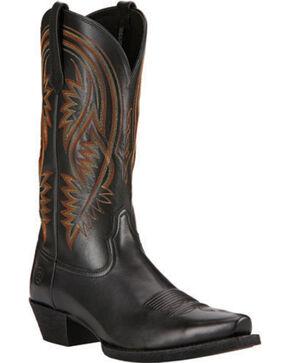 Ariat Black Revolution Cowboy Boots - Snip Toe, Black, hi-res