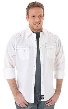 Wrangler Rock 47 Men's White Embroidered Shirt, , hi-res