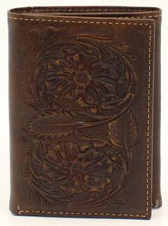 Ariat Floral Embossed Tri-Fold Wallet, , hi-res
