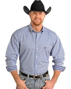 Panhandle Slim Men's Long Sleeve Diamond Print Shirt , , hi-res