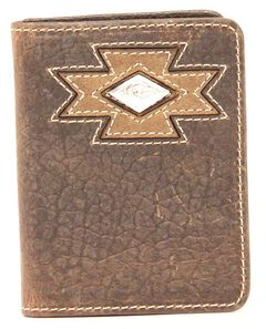 Ariat Diamond Cross Cocho Tri-fold Wallet, , hi-res
