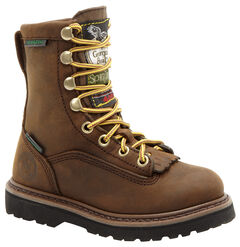 Georgia Youth Boys' Insulated Outdoor Waterproof Lace-Up Boots, , hi-res
