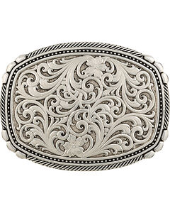 Montana Silversmiths Men's Antiqued Medium Two-Tone Framed Buckle, , hi-res