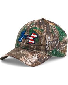 Under Armour Men's Camo Flag Ball Cap, Camouflage, hi-res
