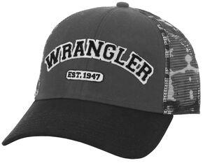 Wrangler Men's Grey Camo Logo Cap, Camouflage, hi-res