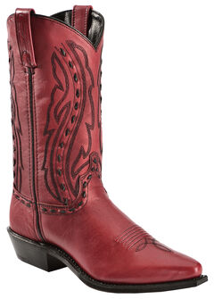 Abilene Whipstitched Red Cowgirl Boots, , hi-res