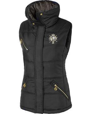 Mountain Horse Women's Cheval Vest, Black, hi-res