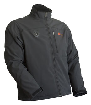 My Core Control Men's Heated Softshell Jacket, Black, hi-res