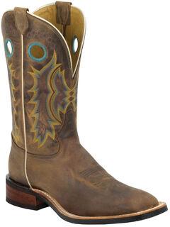 Tony Lama Suntan Century Americana Cowboy Boots - Square Toe , , hi-res