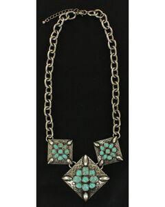 Blazin Roxx Triple Flower Necklace, , hi-res
