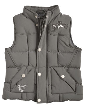 """Cowboy Hardware Toddler Boys' Grey """"Too Tough to Cry"""" , Steel, hi-res"""