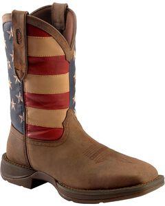 Durango Rebel American Flag Cowboy Boots - Steel Toe, , hi-res