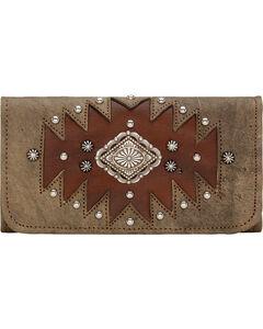 American West Rustic Brown Annie's Secret Tri-Fold Wallet , , hi-res