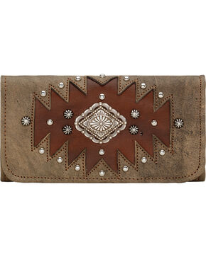 American West Rustic Brown Annie's Secret Tri-Fold Wallet , Rustic Brn, hi-res