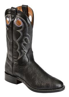 Boulet Black Roper Cowboy Boots - Round Toe, , hi-res