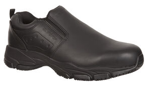 Rocky Men's SlipStop Slip-On Duty Shoes, Black, hi-res