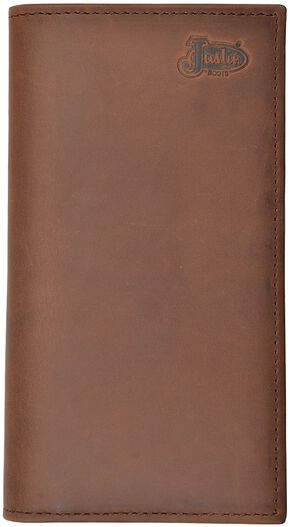 Justin Tan Distressed Rodeo Wallet, Tan, hi-res