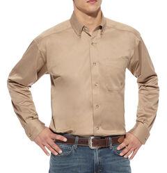 Ariat Khaki Twill Cowboy Shirt - Big and Tall, , hi-res