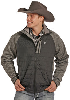 Tuf Cooper Performance Men's Two-Tone Quilted Puff Jacket , , hi-res
