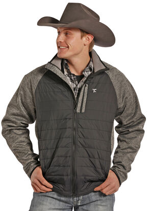 Tuf Cooper Performance Men's Two-Tone Quilted Puff Jacket , Black, hi-res